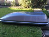 Silver Exodus Roof box for sale very good condition,