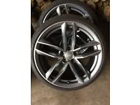 Audi rs6 19 Inch alloy wheels & tyres 5x112