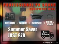 Sound System for hire *PARTIES* *WEDDINGS* *LIVE SHOWS* *CONFERENCES*