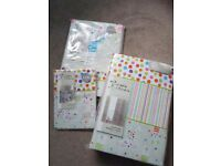 Nursery baby cot bedding set unisex neutral 13 items includes blackout curtains