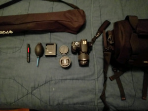 Canon T5 camera kit and 50mm prime lens