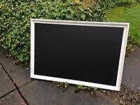 Vintage chalkboard white gold chalkboard wedding chalkboard