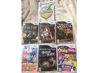 7 Wii games for sale