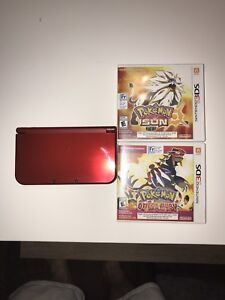 MINT CONDITION NEW NINTENDO 3DS XL (RED)