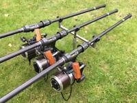 3 x Century C2 12ft 3.25lb Carp Rods