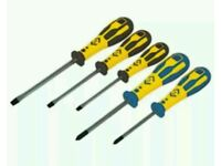 Dextro Screwdriver Slotted & PZD Set Of 5