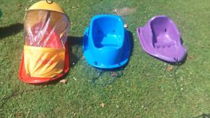 Lots de traîneaux pour enfants