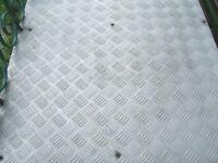 large quantity of aluminium check/floorplate