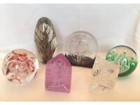Collection of Glass Paper Weights