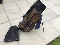 John Letters Golf Stand Bag & Rain Hood In Very Good Condition Ping Taylormade Titleist..
