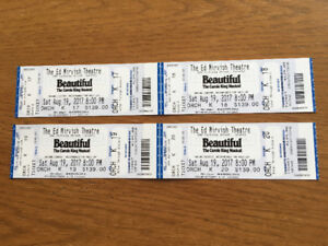 Two or Four tickets to BEAUTIFUL: The Carole King Musical