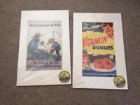 2 American vintage war posters