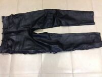 Leather trousers/jeans