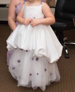 Wedding dress/flower girl dress and bridesmaid dress