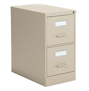 Two 2-drawer Vertical Letter File Cabinets
