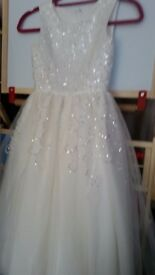 flower girls dress new sparkly beautiful wee dress