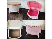 Sewing Box/ Baby/ Nursery Box- Vintage, Wicker (One Off!)