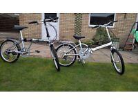 2 Folding Bikes for Sale