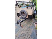 car trailer, inside measurement 90x42x14 inches