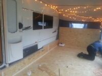 Caravan awning floors fitted