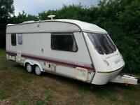 Elddis Crusader 4 berth twin axle caravan with shower / toilet