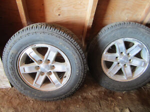 Gmc sierra stock rims and tires