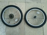 "Bike Wheels And Tyres 20"" x 1.95"" Inner Tubes Included"