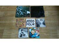 "7 x mega city four vinyls - LP / 12"" . 7&quot"