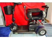 Pride GOGO Traveller Elite Plus 3 in Blue Foldable re car Disability Invalid Motor Scooter