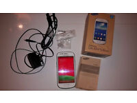 Samsung Galaxy White S3 Mini GT-I8200N mobile phone, EE network, Box & accessories, excellent cond