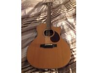 Breedlove Cascade OM/CRe, Soft Cutaway Acoustic Electric Guitar with Deluxe Case