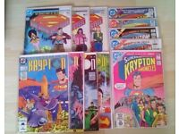 Superman: mixed Krypton and origin mini series issues - quantity 12
