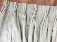 Professionally made pair of wool lined curtains