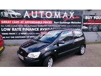 ONLY 40K MILES HISTORY 2005 HYUNDAI GETZ 1.3 GSI BLACK 3 DOOR 4 NEW TYRES NEW CLUTCH NEW MOT E/W CD
