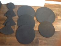 QT drum silencer pads as new