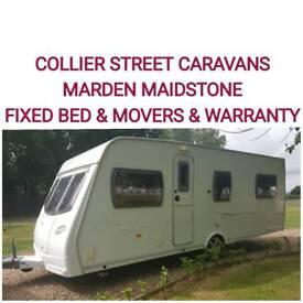 2007 lunar solaris fixed bed 4 berth caravan + motor movers