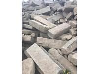 Concrete slabs in various sizes for sale.
