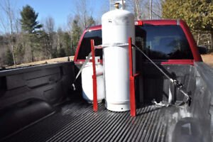 100 lb Propane tank, Rack and Tie-down