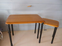 TABLES - A PAIR - 1 LARGE & 1 SMALL & FITS UNDER 1ST TABLE