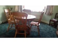 Matching dining table and chairs, coffee table and dresser