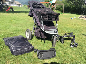 Valco stroller with toddler seat