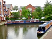 Canalside flat WITH GARDEN at Piccadilly Village, close to Piccadilly Stn & Northern Quarter