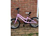 Ridgeback Melody 16inch girls pink bike