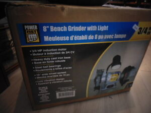 """8"""" Bench Grinder With Light(TRAIL)"""