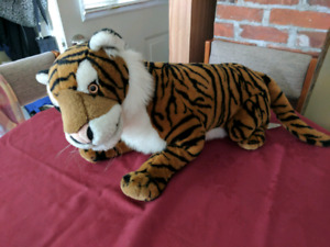 Extra large sized stuffed tiger