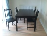REDUCED! Dining Table and Four chairs