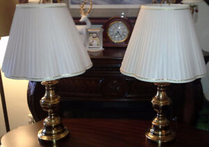 Pair of Brass Lamps - Gently Used