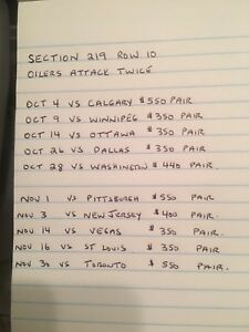 Oilers tickets for sales