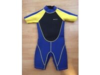 Kid's Shorty Wetsuit by Mountain Warehouse- age 7-8