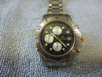 Pierre Cardin Men's Divers Chronograph Watch. Perfect, Never Worn. New Battery Fitted + Free Spares.